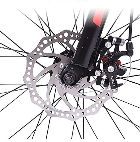 QIU Bicicletas de montaña HYX1 26 Pulgadas 3 Ruedas DEPLOZO 21 Velocidad Bicicleta DE MONTAÑA Dual Dual DE Disco Bicicleta (Color : Red, Size : 26')