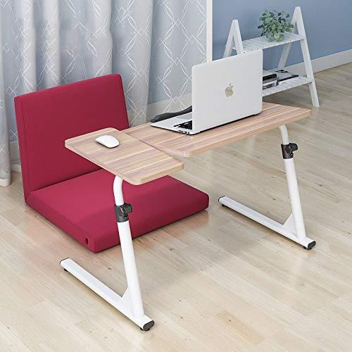 KTDZ Laptop Bett Tisch Klapptisch, Computertisch, Laptoptisch, Klappbare Tragbare HöHenverstellbare, Klappbare Seitliche Maushalterung, 4 Feststellbare Rollen FüR Das BüRo