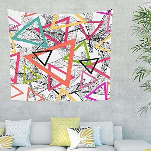 DAMKELLY Store Tapisserie à motif géométrique style rétro - Couvre-lit de plage pour chambre - Blanc - 150 x 130 cm