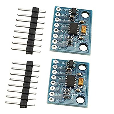 2pcs ADXL345 3-Axis Digital Acceleration of Gravity Tilt Module GY-291 IIC/SPI Transmission for Arduino