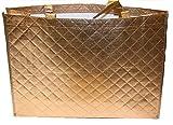 Prinidor Einkaufstasche faltbar Shopping Bag Strandtasche Gold