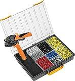 Weidmüller 485803 PZ 6roto L RC-Juego de reparación de Cables (Incluye crimpadora y terminales en Diferentes tamaños y Colores, con maletín de plástico)