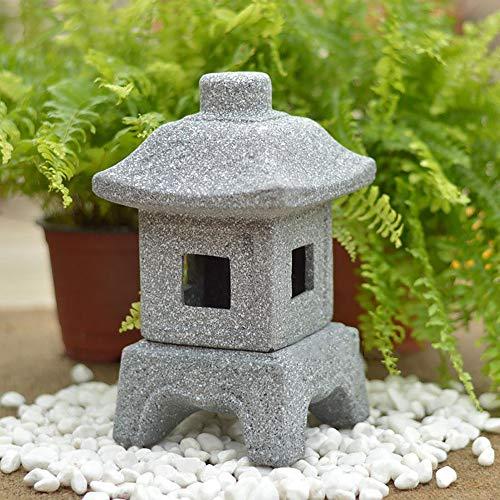 zenggp Candelabro Vintage Japonés Zen Pagoda Lámpara De Mesa De Jardín Linterna Decoración De Estatuas De Jardín