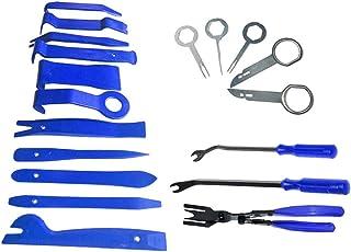 Garneck Kit de ferramentas de remoção de automóveis para painel de carro, painel, áudio, remoção, rádio, instalação de rep...