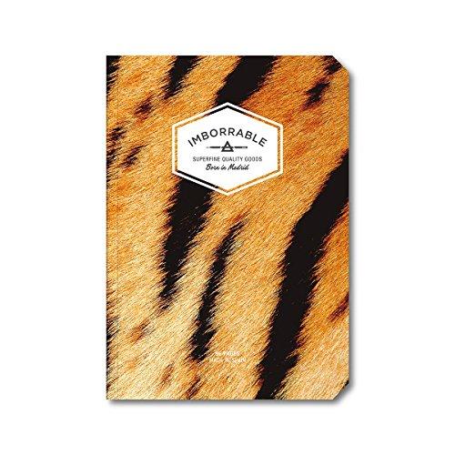 Imborrable Tigre - Cuaderno de notas con malla de puntos, 96 páginas, A5, 14.8 x 21 cm