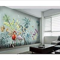 Bosakp カスタム写真の壁紙3Dの壁画の壁紙熱帯雨林の花と鳥の背景の壁のリビングルームの壁画 360X250Cm