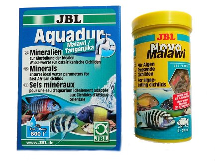 JBL Aquadur Malawi 250g & JBL Novo Malawi 250 ml im Set