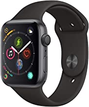 Apple Watch Series 4 44mm GPS Only, Space Gray Aluminum - Black Sport Band (Renewed)