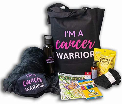 Blue Iris Chemo Care Package for Women I m a Cancer Warrior Matching Gift Set Includes Cancer product image