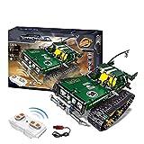 626pcs control remoto coche de radio control Juguetes de DIY monta RC Cars aleación 2.4G del control de radio del tanque de ladrillo Juguetes niños y adultos regalos de cumpleaños Colección de Navidad