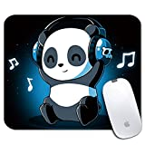 iNeworld Personalized Rectangle Mouse Pad- Printed Cute Panda Pattern Non-Slip Rubber Comfortable Customized Computer Mouse Pad (9.45x7.87inch)