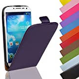 Eximmobile - Flip Hülle Handytasche für LG G3 s in Lila | Kunstledertasche LG G3 s Handyhülle | Schutzhülle aus Kunstleder | Cover Tasche | Etui Hülle in Kunstleder