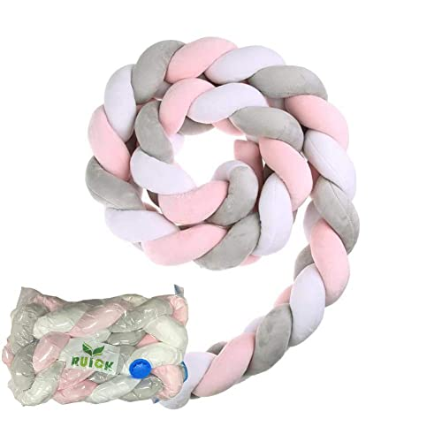 bc8bc6dbdb5 Baby Braided Crib Bumpers Long Knot Pillow Cushion