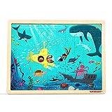 TOP BRIGHT 100 Pieza del Jigsaws Puzzles de Madera, Sea World Toddler Jigsaws para Niños y Niñas de Edades 3, 4 y 5