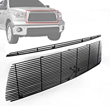 ZMAUTOPARTS Hood Scoop + Upper Billet Black Grille Grill Insert Combo Set For 2010-2013 Toyota Tundra