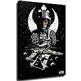 Xicplc Star Wars Film Art Abstracto Lienzo Arte Pared Arte Estético X Wing Póster Arte Arte Estético 30.48 cm x 45.72 cm Pintura Articulada para Arte de Pared, Estirado y Listo para Colgar