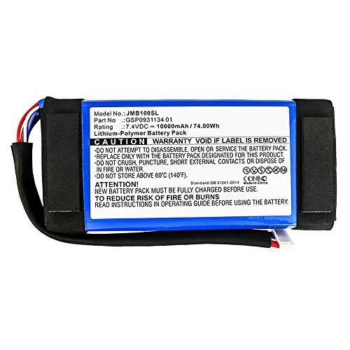 subtel® Qualitäts Akku kompatibel mit JBL Boombox, GSP0931134 01 10000mAh Ersatzakku Batterie