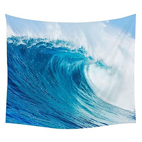 Sol mar tapiz océano playa característica del agua colgante de pared nube azul manta decoración del hogar dormitorio tela de fondo A14 130x150cm