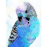 ダイヤモンドアートペインティングキットアニマルDIYダイヤモンド刺繡クロスステッチオウム鳥ラインストーンモザイク装飾家用