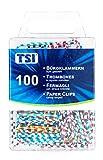 TSI Büroklammern, 28 mm, 100-er Packung, farbig gestreift