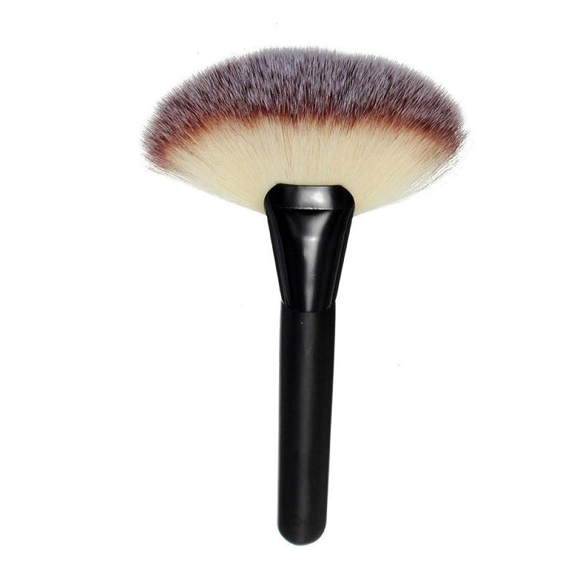 スペアモナリザくしゃくしゃGoenn フェイスパウダー ブラシ 化粧筆 扇形ブラシ メイクブラシ ファンデーションブラシ 柔らかい 大人気