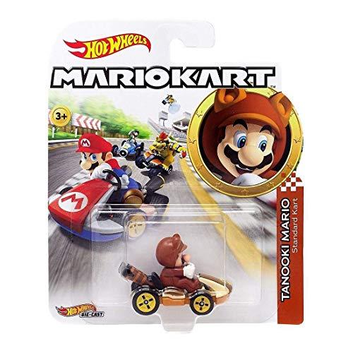 Hot Wheels Die-Cast Mario Kart Spielzeugauto für Kinder (3+) TANOOKI Mario GBG25 Nintendo