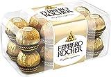 ferrero rocher gift box, 16 count, individually wrapped fine hazelnut chocolate, 200 grams