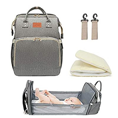 Amazon - Save 45%: 3 in 1 Travel Bassinet Foldable Baby Bed for Bady and Toddler, Diaper Back…