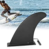 JEEZAO Aleta Central de Tabla de Surf Nylon Paddle Board Caja Fuerte Reforzada, Accesorios de Tabla de Surf para Canoa de Remo Esquí Acuático (Negro)