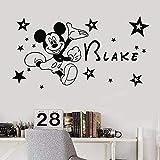 Tatuajes de pared dibujos animados animal ratón pegatinas de pared habitación de los niños decoración de la casa estrella decoración del dormitorio