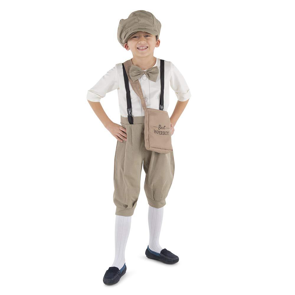 Gatsby 1920/'s Newsboy Newsie Boys Child Costume Newspaper Carrier Size 2-6