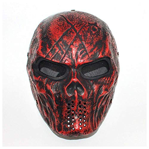 YaPin Halloween Film Marauder Thema Gerechtigkeitsliga Batman Robbe Horror Resin Maske Live CS Show Requisiten (Color : Black red)