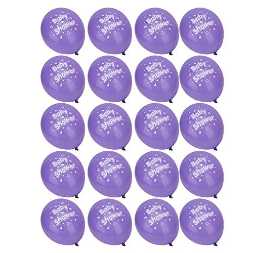 Aoutecen Globos de látex Impresos con Letras Bolas de Aire para Fiestas Favores de Peso Ligero Suministro Decoración Baby Shower para Fiesta de cumpleaños(Pink)