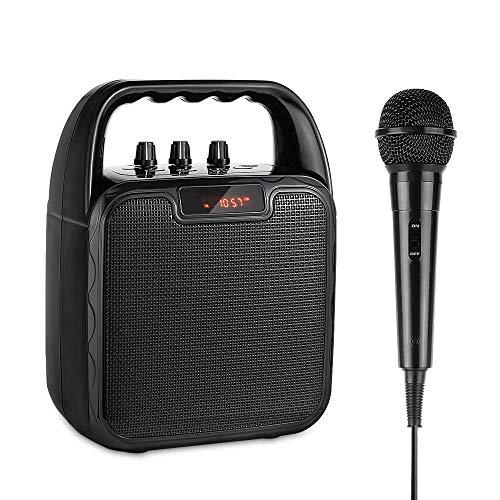 Altavoz Bluetooth Portatiles Karaoke con Micrófono, ARCHEER PA Sistema profesional con Radio...