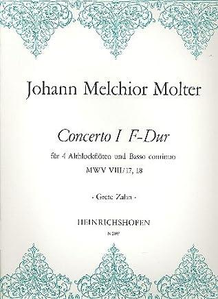 Concerto F maggiore N. 1mwvviii/17,18: Alt per 4Flauti e BC