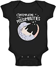 Contemplating The Possum-bilities Funny Animal Pun Infant Baby Boy Girl Bodysuit