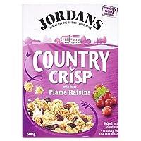 Jordans Country Crisp Flame Raisin Clusters (500g) ジョーダン国さわやかな火炎レーズンクラスタ( 500グラム)