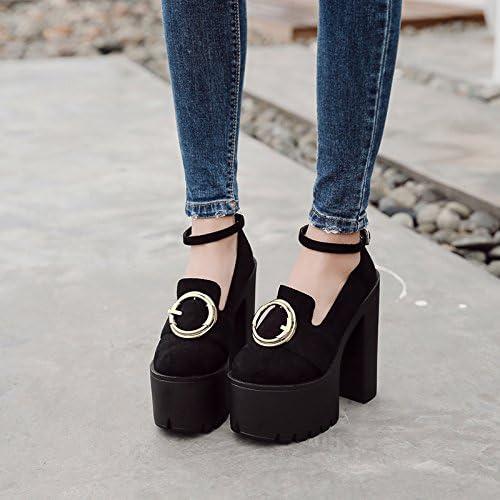 GTVERNH-8.5Cm Noire épaisse Talons Printemps Et été étape étape pour Chaussures Bottes à Talons Haut Club Féminin  classique intemporel