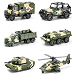 Xolye Kinderspielzeug Auto Set Military Auto Serie Junge Spielzeug Geschenke Legierung Ziehen Zurück Transportfahrzeug Tank Medizinisches Fahrzeug Flugzeug Modelldekoration