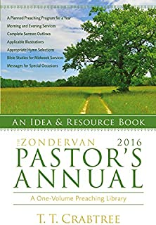 The Zondervan 2016 Pastor's Annual: An Idea and Resource Book (Zondervan Pastor's Annual)