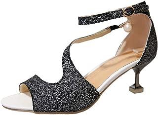 BalaMasa Womens ASL06031 Pu Heeled Sandals