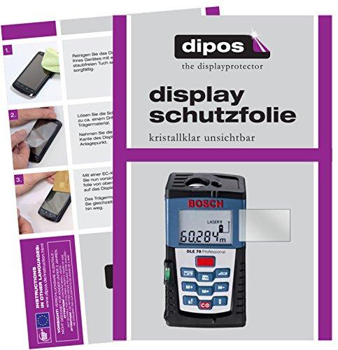dipos I 3X Schutzfolie klar kompatibel mit Bosch DLE 70 Professional Folie Displayschutzfolie