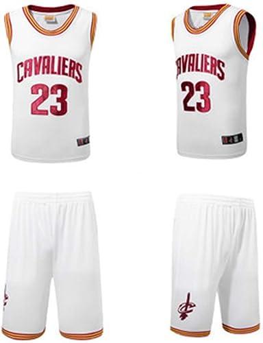 YDYL-LI Cleveland Cavaliers 23 Uniforme De Basket-Ball Maillot James   Lebron James Uniforms Veste De Sport sans Manches Compétition Uniformes Fans Uniformes De Basket-Ball (Taille  S-XXXL),blanc,XXL