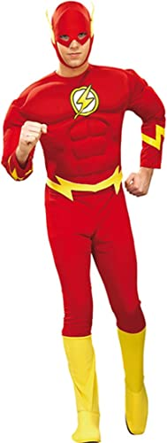 Original Flash Kostüm L 52 54 Superhelden Flashkostüm Blitz Karnevalkostüm Outfit Verkleidung Herren M er Karneval