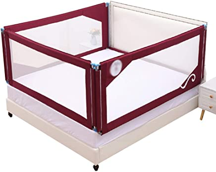 BAIF Double protection bed railing  double insurance  all steel  skeleton  comfortable and stable fabrics  sizes  colors  color  red  size  200x180x80cm
