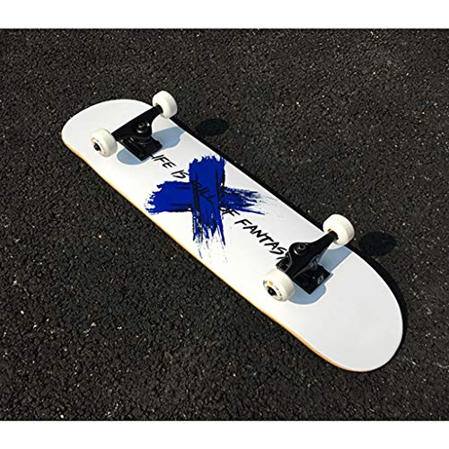 Complete Skateboards met glad oppervlak glanzend skateboard Double Kick Skateboard Graffiti Art