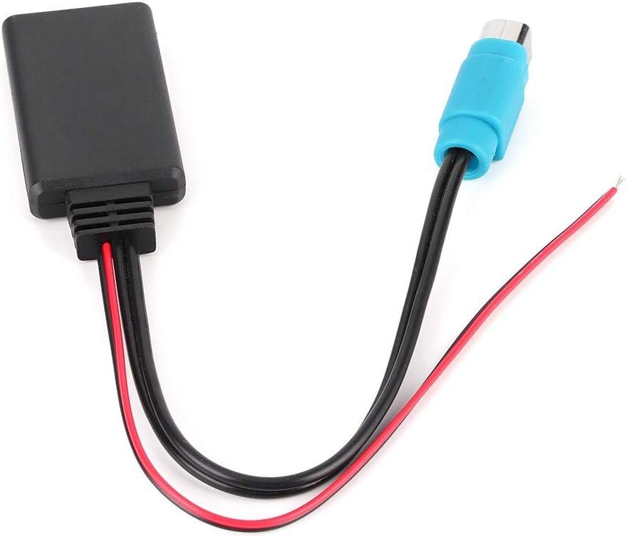 Cable de entrada auxiliar, adaptador de entrada auxiliar Bluetooth KCE-237B Cable de audio inalámbrico apto para CDE-W203Ri IDA X303 X305 X301