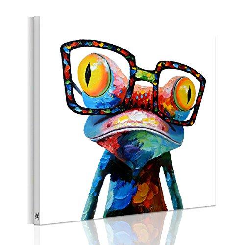 アートパネル おしゃれ 北欧 カラのアマガエル 壁飾り 絵画 抽象画 インテリア 動物 壁アート木枠セット 横50cm*縦50cm*1
