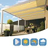 DOEWORKS Shade Cloth, 8'x10' UV Block Sun Shade Canopy with Grommets for Outdoor Pergola, Patio, Garden Deck