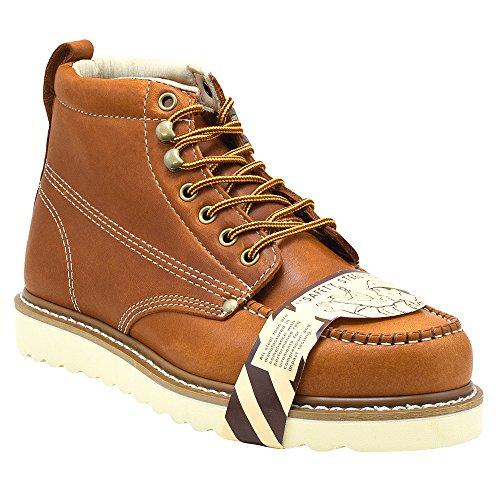 Golden Fox Steel Toe Men's Lightweight Work Boots Moc Toe Boot Insulated (10.5 D(M) US, Brun) Brown